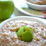 Apple Cinnamon Oatmeal | FoodForYourGood.com #apple_cinnamon_oatmeal