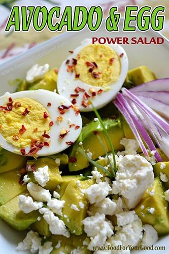 Avocado Egg Power Salad