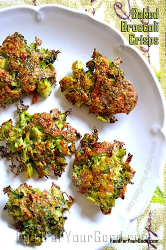 Baked Broccoli Crisps
