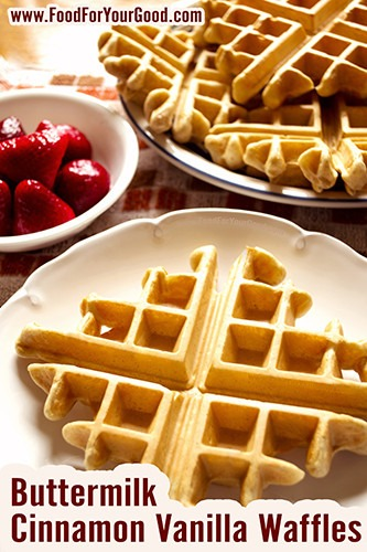 Buttermilk Cinnamon Vanilla Waffles