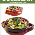 Home-Style Coleslaw | FoodForYourGood.com #coleslaw