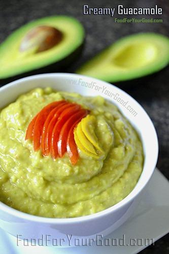 Creamy Guacamole | FoodForYourGood.com #creamy_guacamole #dip