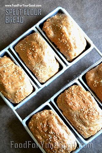 Spelt Flour Bread | FoodForYourGood.com #spelt_flour_bread