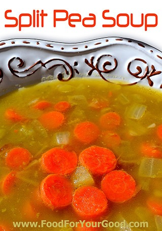 Split Pea Soup | FoodForYourGood.com #split_pea_soup