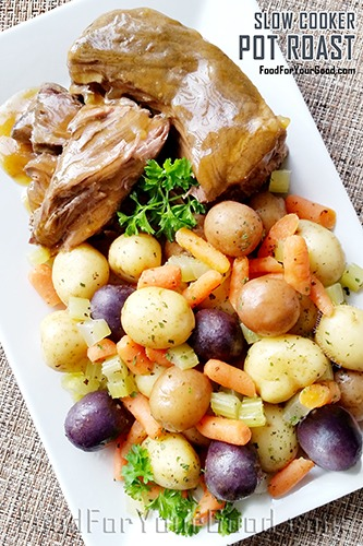 Slow Cooker Pot Roast | FoodForYourGood.com #slow_cooker_pot_roast