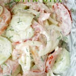 Creamy Cucumber Tomato Salad with Dill