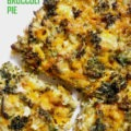 Crustless Cheddar Broccoli Pie